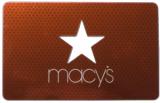 Macy's-Gutscheinkarte mit Stern-Ausstanzung und glänzender Folie