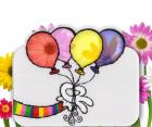 Karte mit transparenten Luftballons