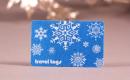 Winterliche Geschenkkarte mit Filz-Oberflaeche